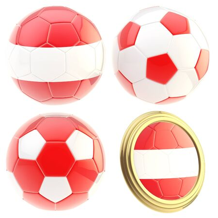 attributes: Austria football team attributes isolated Stock Photo