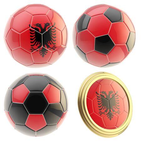 attributes: Albania football team attributes isolated Stock Photo