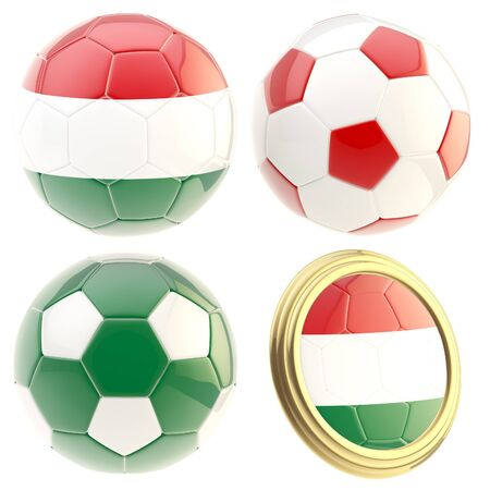 the attributes: Hungary football team attributes isolated
