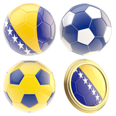 the attributes: Bosnia and Herzegovina football team attributes Stock Photo