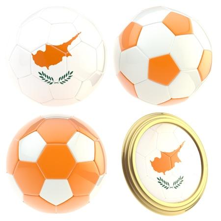 attributes: Cyprus football team attributes isolated