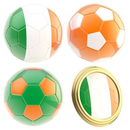 attributes: Ireland football team attributes isolated