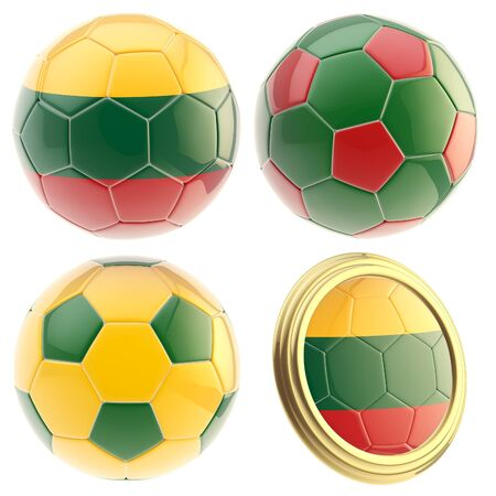 the attributes: Lithuania football team attributes isolated