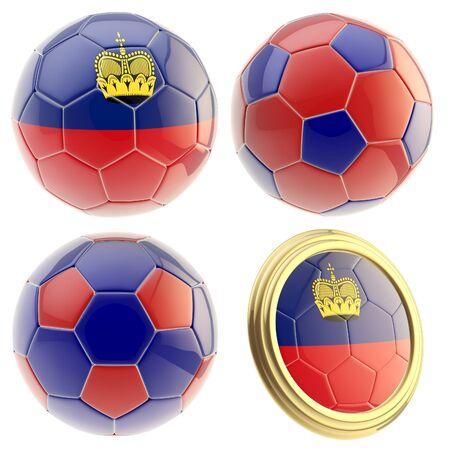 attributes: Liechtenstein football team attributes isolated