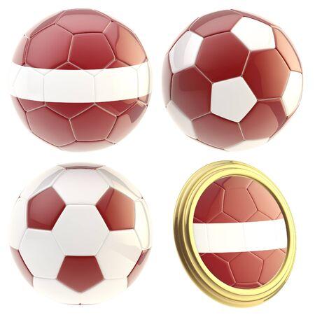 attributes: Latvia football team attributes isolated