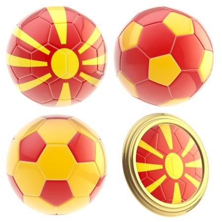 the attributes: FYROM football team attributes isolated