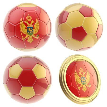 attributes: Montenegro football team attributes isolated