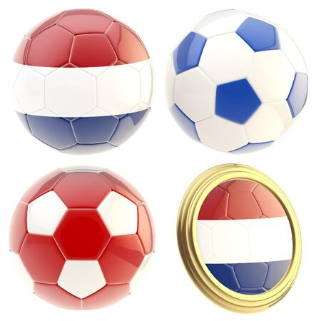 attributes: Netherlands football team attributes isolated Stock Photo