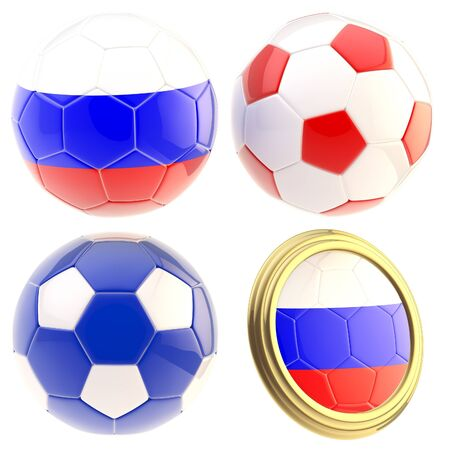 the attributes: Russia football team attributes isolated