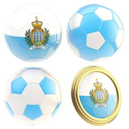 attributes: San Marino football team attributes isolated