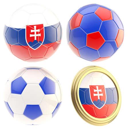 the attributes: Slovakia football team attributes isolated