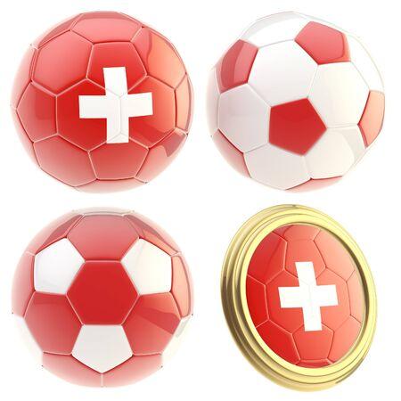 attributes: Switzerland football team attributes isolated