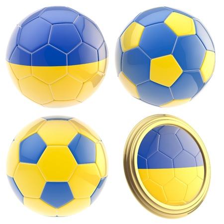 attributes: Ukraine football team attributes isolated