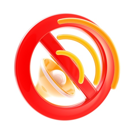 No music or sound mute sign isolated Stock Photo - 13485535