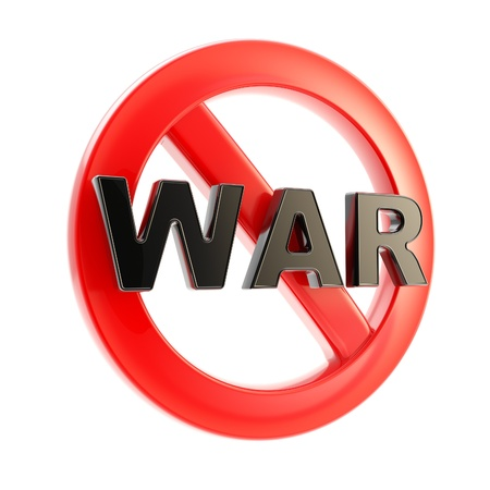no war: No war forbidden glossy sign isolated Stock Photo