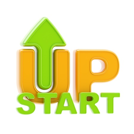 Startup up arrow symbol isolated photo