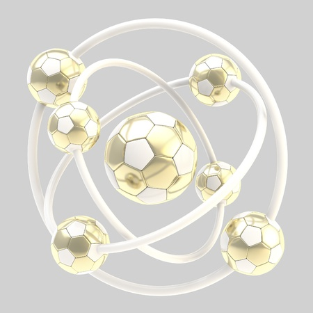 Football molecule made of balls Stock Photo - 13485530
