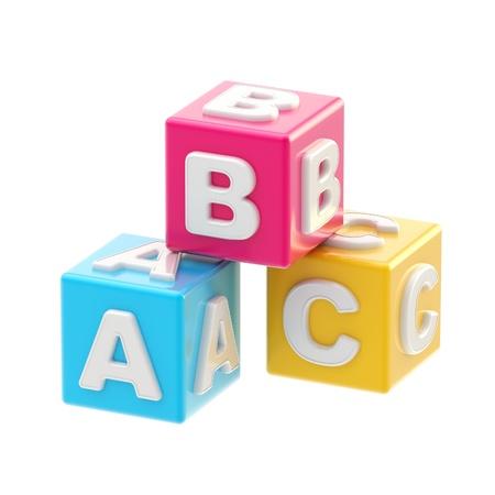 ABC glossy cube illustration isolated on white illustration