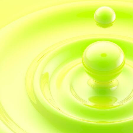 Green liquid drop abstract background photo