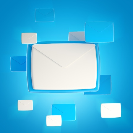 Group of e-mail letter icons photo