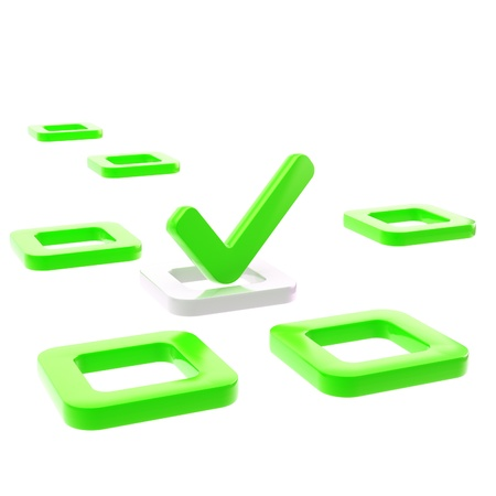 To do list, tick in green check box Stock Photo - 14089283