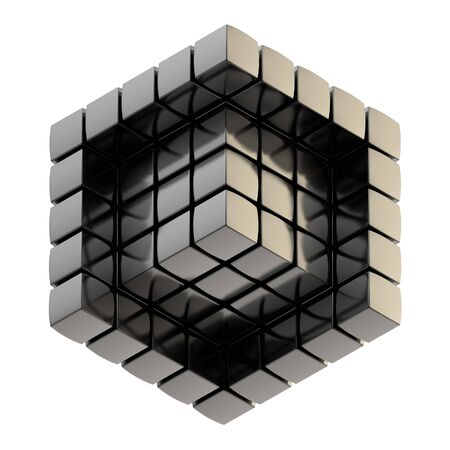Abstract background as cube structure photo