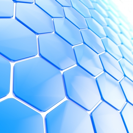 honeycombs: Abstract hexagon shape background Stock Photo