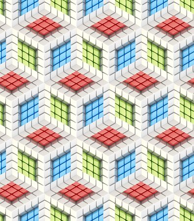 reb: Seamless hexagon cube background texture