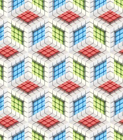 reb: Seamless hexagon cube background texture