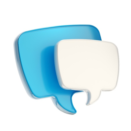 chat: Text speech bubble icon isolated