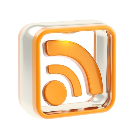 RSS application icon emblem isolated photo