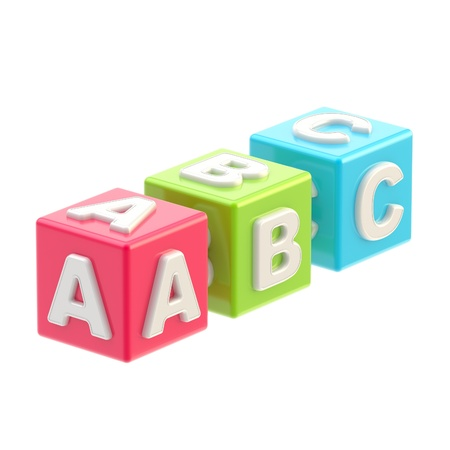 ABC glossy cube illustration isolated illustration