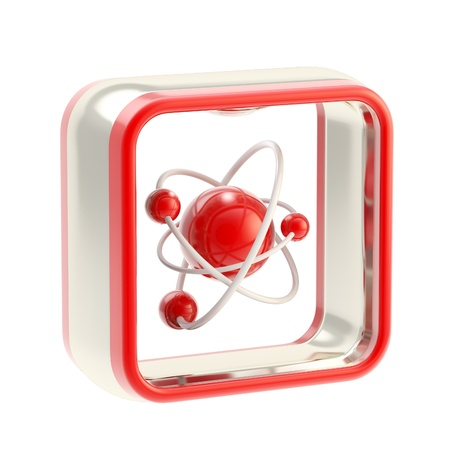 Science application icon emblem isolated photo