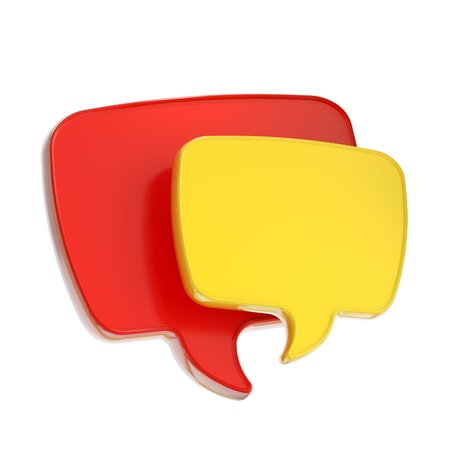 mms: Text speech bubble icon isolated