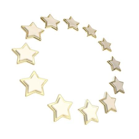 Circle star frame emblem isolated Stock Photo - 14090192