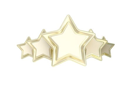Five star rating golden emblem photo