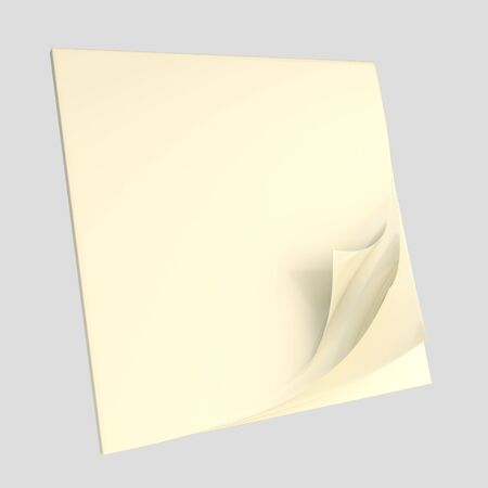 Copyspace note sheets with angled corner photo