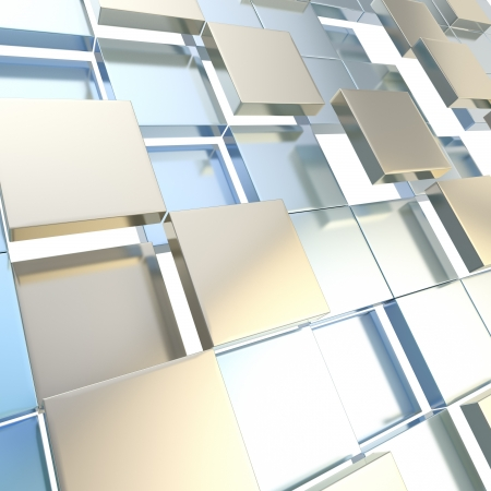 Abstract cube background techno wallpaper Stock Photo - 14183397