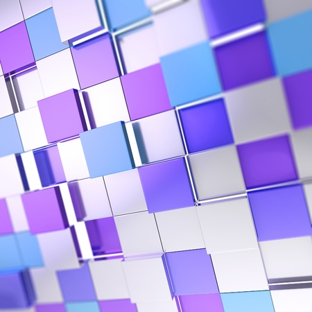 Abstract cube background shiny glossy blue violet backdrop techno wallpaper Stock Photo - 14183534