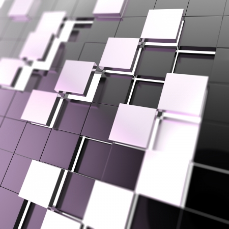 Abstract cube background techno wallpaper Stock Photo - 14183525