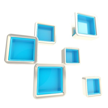 Cube copyspace shelves as abstract background photo