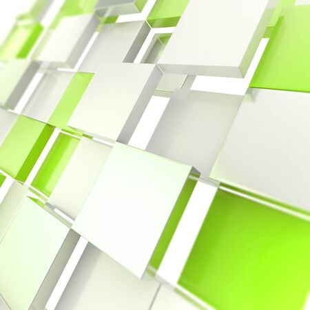 Futuristic copyspace background of cubic plates Stock Photo - 14183436