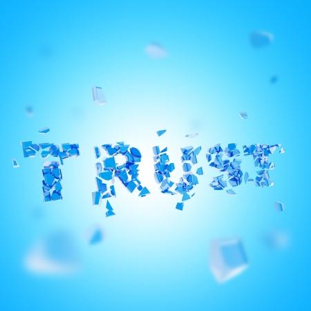 broken trust: Broken trust abstract composition Stock Photo