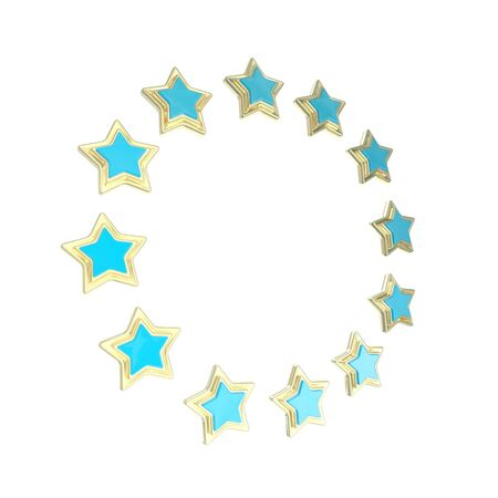 Circle star frame emblem isolated Stock Photo - 14183434