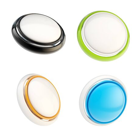 Set of glossy plastic buttons isolated Stock Photo - 14183484