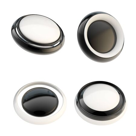 Set of black template buttons isolated Stock Photo - 14183477