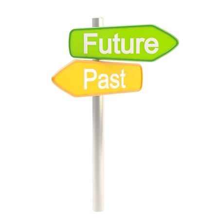 Future and past road sign signpost Stock Photo - 14183046