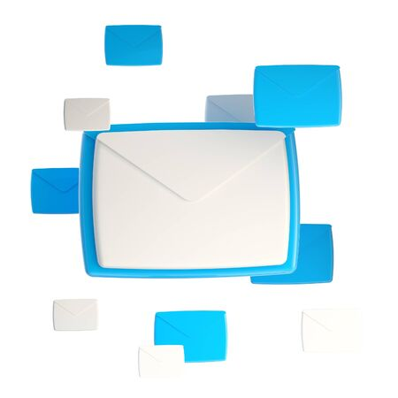 E-mail letter emblem icon isolated Stock Photo