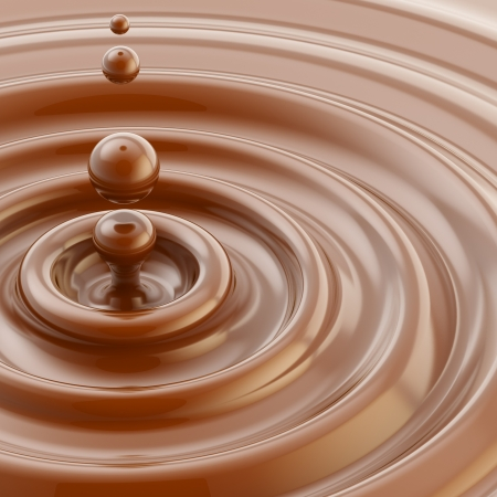 creamy: Brown liquid chocolate drop background Stock Photo