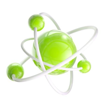 atomic symbol: Atomic structure science emblem isolated Stock Photo